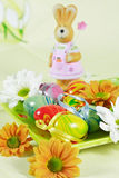 Easter motive. Easter detail with Easter eggs or spring motive Stock Photos