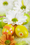 Easter motive. Easter detail with Easter eggs or spring motive Royalty Free Stock Photo