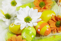 Easter motive. Easter detail with Easter eggs or spring motive Stock Images