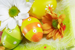 Easter motive. Easter detail with Easter eggs or spring motive Stock Photo