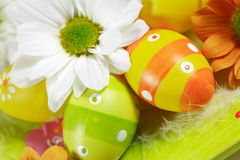 Easter motive. Easter detail with Easter eggs or spring motive Stock Photography