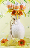 Easter motive. Easter detail with Easter eggs or spring motive Royalty Free Stock Image