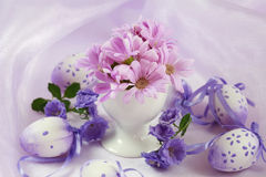 Easter motive. Beautiful Easter motive in pink and violet tone stock photo