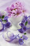 Easter motive. Beautiful Easter motive in pink and violet tone stock image