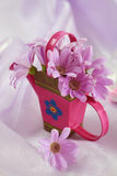 Easter motive. Beautiful Easter motive in pink and violet tone stock images