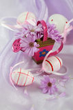 Easter motive. Beautiful Easter motive in pink and violet tone royalty free stock photography