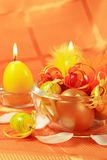 Easter motive. Beautiful Easter motive in orange and yellow stock images