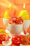 Easter motive. Beautiful Easter motive in orange and yellow royalty free stock image