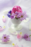 Easter motive. Beautiful Easter motive in pink and violet tone Stock Photos
