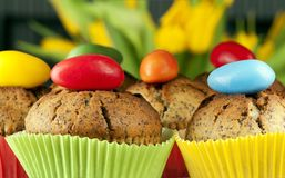 Easter muffins Stock Photography