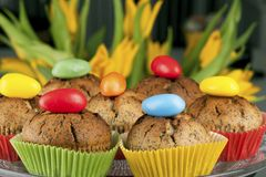 Easter muffins Stock Images