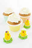 Easter Muffins And Chickens Royalty Free Stock Images