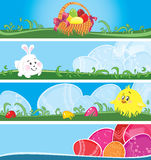 Easter multicolor banners Royalty Free Stock Photo