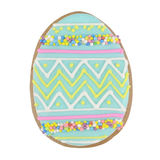 Easter multicoloured spice-cakes like egg isolated on white Royalty Free Stock Photography