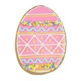 Easter multicoloured spice-cakes like egg isolated on white Royalty Free Stock Photo