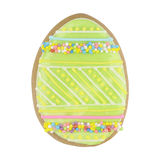 Easter multicoloured spice-cakes like egg isolated on white Royalty Free Stock Images