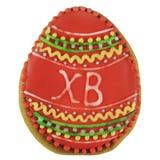 Easter multicoloured spice-cakes like egg isolated on white background Stock Photo