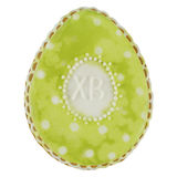 Easter multicoloured spice-cakes like egg isolated on white background Stock Image