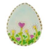 Easter multicoloured spice-cakes like egg isolated on white background Stock Photography