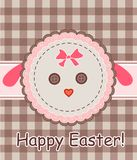 Easter napkin with sheep Royalty Free Stock Photos