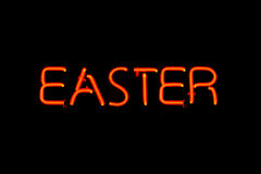 Easter neon sign Royalty Free Stock Image