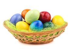 Easter nest 1 Royalty Free Stock Images