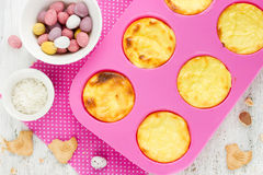 Easter nest cake cooking , Easter recipe step by step , preparat Stock Photo