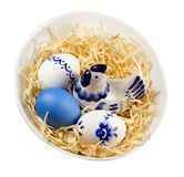 Easter nest. Isolated. Royalty Free Stock Photo