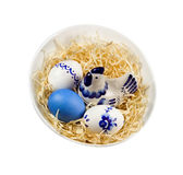 Easter nest. Isolated. Stock Image