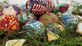 Easter nest stock video footage
