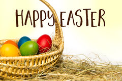 Easter nest with text Royalty Free Stock Images