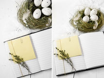 Easter Notes Stock Photo