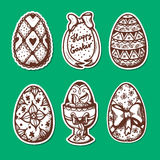 Easter objects stickers collection. Royalty Free Stock Images