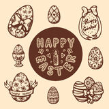 Easter objects vintage collection. Royalty Free Stock Image