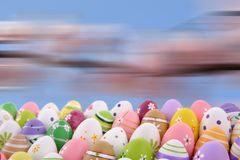 Easter is one of the two most important holidays in the Christian religion. The splendor of spring colors on Easter eggs means that great news connected with Stock Images