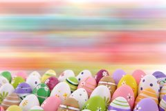 Easter is one of the two most important holidays in the Christian religion. The splendor of spring colors on Easter eggs means that great news connected with Stock Image