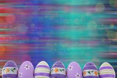 Easter is one of the two most important holidays in the Christian religion. The splendor of spring colors on Easter eggs means that great news connected with Stock Photo