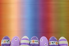 Easter is one of the two most important holidays in the Christian religion. The splendor of spring colors on Easter eggs means that great news connected with Royalty Free Stock Photography