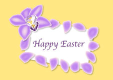 Easter Orchid Card Royalty Free Stock Photo