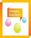 Easter origami background Stock Photography