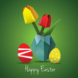Easter origami card Stock Images