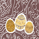 Easter ornament  egg. Image Easter of beautiful ornament  egg Stock Photo