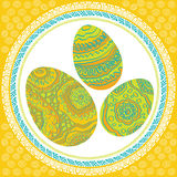 Easter ornament  egg. Image Easter of beautiful ornament  egg Stock Photos