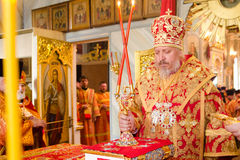 Easter Orthodox religious procession in the city of Gomel on 13 April 2015. Stock Image