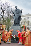 Easter Orthodox religious procession in the city of Gomel on 13 April 2015. Stock Images
