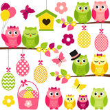 Easter Owls Royalty Free Stock Photos