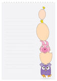 Easter Page_eps. Illustration of Easter theme with page on white background Royalty Free Stock Photography