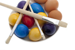 Easter, paint eggs Stock Images
