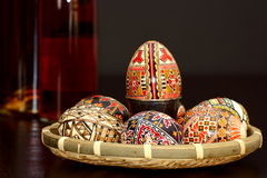 Easter painted eggs Royalty Free Stock Images