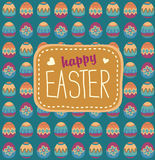 Easter painted eggs background Royalty Free Stock Photos